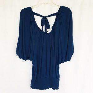 Kenar blue kimono butterfly sleeve top S